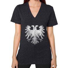 Holy Roman Empire Eagle V-Neck (on woman)
