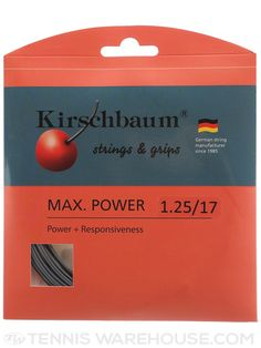 Kirschbaum Max Power string looks like a very promising option for strong tennis players who prefer a high degree of control and predictability when ripping the cover off the ball.
