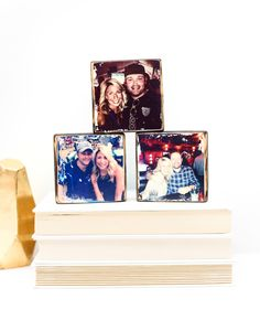 Unique couples (or engagement/wedding shower) gift or photo display idea: images transferred to wood, via getARCHd on Etsy.