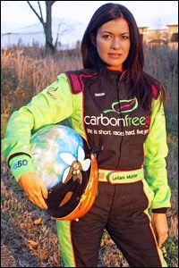 "Leilani Münter ""Life is short. Race hard. Live Green."""