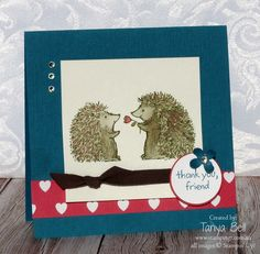 Stampin' Up! Stamping T! - Love you Lots Hedgehogs