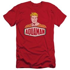 DCO/AQUAMAN SIGN - S/S ADULT 30/1 - RED -