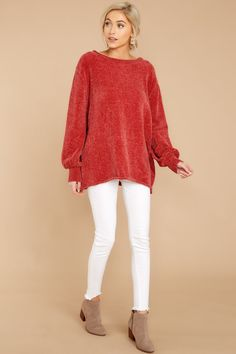Comfy Rust Orange Sweater - Oversized Sweater - Sweater -  38.00 – Red Dress  Boutique Orange b64865530