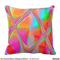 Re-Created Glass Ceiling by Robert S. Lee Throw Pillows #Robert #S. #Lee #pillow #art #artist #graphic #design #colors #kids #children #girls #boys #style #throw #cover #for #her #him #gift #want #need #abstract #home #office #den #family #room #bedroom #living #customizable