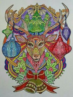 ColorIt Free Coloring Pages Colorist: Linda Noyola #coloringforadults #adultcoloringpages #FreeChristmasPages