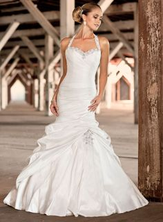 Sirène sweetheart de mariage robe licol