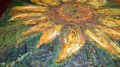 Marko Sapiolko oil canvas 40x40 cm ''sunflower''