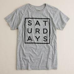 Saturdays square type tee