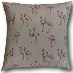 Beautiful Pink Flamingos on a beige/cream background. Professionally made cushion cover made from a good quality cotton fabric. All cushion covers have a cream cotton back. Animal Cushions, Brown Cushions, Pink Cushions, Scatter Cushions, Throw Pillows, Cushion Covers Uk, Beige Background, Pink Flamingos, Spring Collection