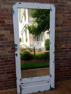 Old Door Mirror by VintiquedMS on Etsy, $425.00