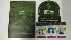 #Australasia2016 #internationalevent #bukutamudigital #multidayevent #anyevent #namebadge