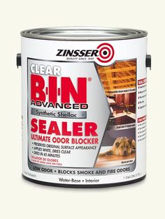 Meet the world's first man-made shellac. It has all the magic of the original finish—excellent sealing, easy recoating, fast drying—and cleans up with water instead of ammonia. Plus, it costs less than the stuff made from lac bugs. | Zinsser B-I-N Advanced synthetic shellac sealer, by @rustoleum