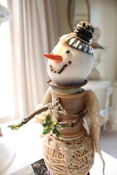 a little of this, a little of that and viola - a snowman!