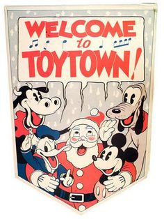 """Kay Kamen point-of-sale banner, 1936. Former retail hat merchant Herman """"Kay"""" Kamen's impressive track record for introducing new products preceded him, and in 1932 he was personally selected by Walt Disney to serve as the Company's sole licensing representative."""