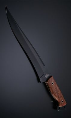 BucknBear Custom handmade Fixed Blade Fighter Knife (Burlwood handle)