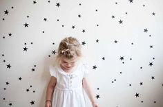 Black star wall decals wall sticker nursery wall by tayostudio