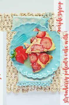 Rezept für köstliche Erdbeer-Polenta-Schnitten   strawberry polenta cake recipe   luziapimpinella.com