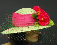 pink hats for easter for woman | size 21 21 1 2 color fuchsia pink 7 green
