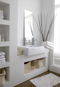 espacios cuadrados para toallas/cosas