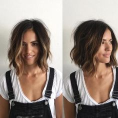 Brown Bob With Partial Balayage