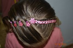 Peinado con cinta Little Girl Hairstyles, Cute Hairstyles, Braided Hairstyles, Hair Removal Remedies, Baby Girl Hair, Hair Game, Toddler Hair, Braids For Long Hair, Hair Beauty