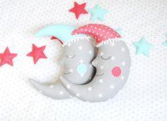 Luna almohada Luna cojín Media Luna Luna almohada vivero por Jobuko