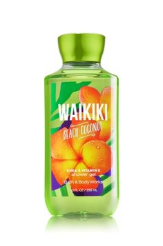 Waikiki Beach Coconut - Shower Gel - Bath & Body Works - Wash your way to softer, cleaner skin with a rich, bubbly lather bursting with fragrance. Moisturizing Aloe and Vitamin E combine with skin-loving Shea Butter in our most irresistible, beautifully fragranced formula!
