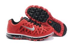 Mens Nike Air Max 2011 Sport Red/Metallic Silver-Black Sneakers   . #cheap #red #shoes cheap nike shoes