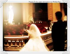 Only Immaculate Mary can present a spotless gift to her Son. Thanking BVM for my marriage, our #Catholic story. http://totustuusfamily.blogspot.com/2013/06/a-june-bride-what-i-didnt-know.html