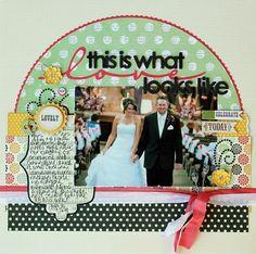 scrapbook layout wedding