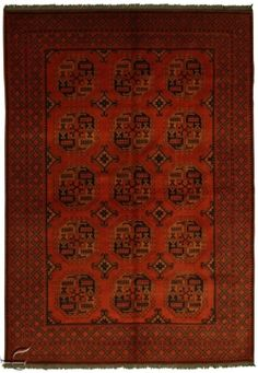 Central Asian Rug - Khalmohammadi Carpet  Width210.00 cm (6,89 Feet) Lenght298.00 cm (9,78 Feet)  Khal Mohammadi carpets are from Afghanistan. Khal Mohammadi is the name of the producer of these rugs.