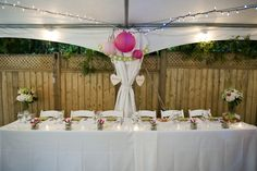 Great idea. Recent Project: Summer Backyard Wedding   recreative works blog