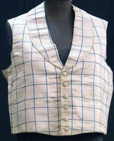 Checked Waistcoat, Australian, 1830-1850.