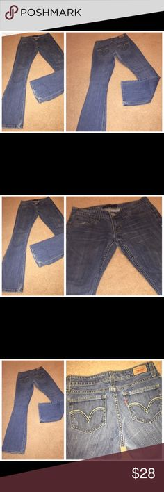 """Levi's """"too superlow"""" cotton denim jeans, Sz 1M Jr 081317-26 drnerds  Levi's """"too superlow"""" cotton denim jeans, Sz 1M Levi's """"too superlow 524"""" 100% cotton denim jeans with flared leg, Sz 1M Waist - 28 Inseam -30 Levi's Jeans Flare & Wide Leg"""