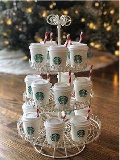Sleepover Birthday Parties, Birthday Party For Teens, Teen Birthday, 12th Birthday, Birthday Ideas, Starbucks Coffee, Starbucks Drinks, Starbucks Crafts, Starbucks Birthday Party