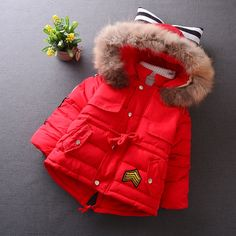27.90$  Buy now - http://alisfo.worldwells.pw/go.php?t=32747522456 - Kids Clothes New Autumn Winter Parkas Kids Girls Fashion Cute Casual Solid Color Bow Hoodies Thicken Parkas Children Clothing