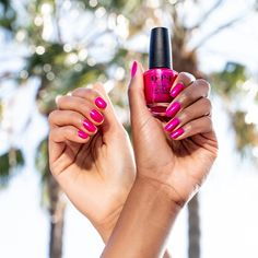 What's crimson with a dash of purple shimmer? #PompeiiPurple. Whether you've picked this shade up recently or you've been wearing it since our Carnival Collection in 1991, this is a pink to remember. Suzi was inspired by one of her favorite family vacations, so she put her own spin on the purple ice cream she loved so much in Pompeii.