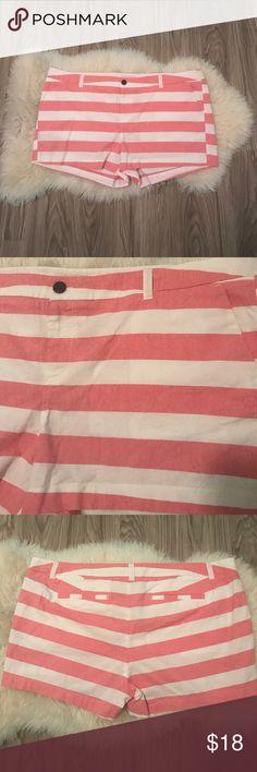 Pink and white stripe shorts NWOT pink and white striped shorts. Merona Shorts