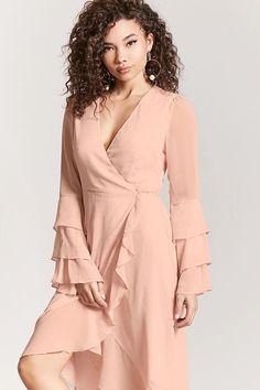 Product Name:Teardrop Jacquard Wrap Dress, Category:dress, Price:29.9
