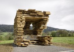 World famous architects including Sou Fujimoto, Smiljan Radic and Wang Shu design bus stops for a tiny Austrian village
