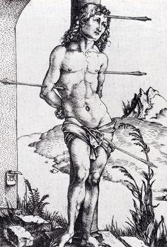 Albrecht Dürer - Saint Sebastian at the Column, second state