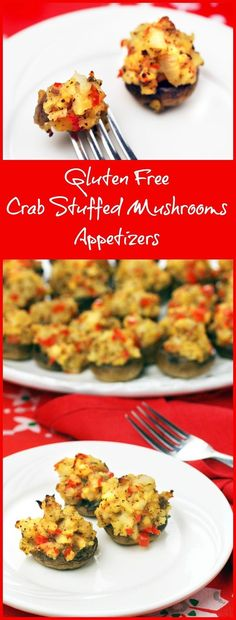 These crab stuffed mushrooms are easy to make and gluten free! Get the recipe for Gluten Free Crab Stuffed Mushrooms Appetizers at This Mama Cooks! On a Diet (sponsored)