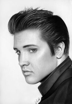 realistic portrait drawing Pastel/paper Elvis Aaron Presley (January 1935 – August was one of the most popular American singers of the century. A cultural icon, he is widely known by the single name Elvis. Realistic Pencil Drawings, Pencil Drawing Tutorials, Pencil Art Drawings, Horse Drawings, Portrait Au Crayon, Pencil Portrait, Portrait Art, Celebrity Drawings, Celebrity Portraits