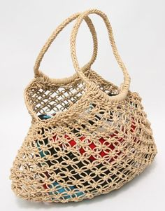 Image result for market jute tote bag macrame