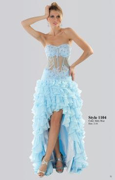 Gorgeous strapless Baby Blue dress Perfect for #prom #party Available for Purchase at www.daniellacoutu...