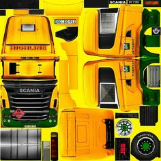 Trailers, Truck Simulator, Scania V8, Heavy Truck, Racing Team, Paper Models, Custom Trucks, Paper Toys, Cars And Motorcycles