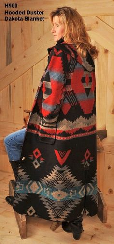 Vintage 40s 50s Chimayo Blanket Jacket Red Janscraft Size