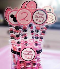 DIY sweets. #minnie #mouse #birthday