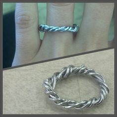 My attempt at Day's paperclip ring for June.  Prodigy / Legend / Champion / Marie Lu