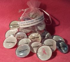Breast Cancer Stone Bag (Let words encourage & heal)